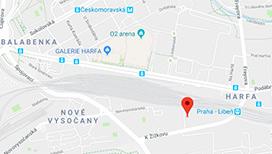 Verkon: Prodejna laboratorních potřeb Praha - mapa
