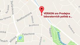Verkon: Prodejna laboratorních potřeb Ústí nad Labem - mapa