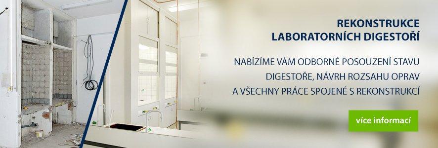 Rekonstrukce laboratorních digestoří